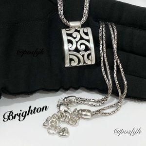 Brighton Necklace Double Strand Pendant Silver